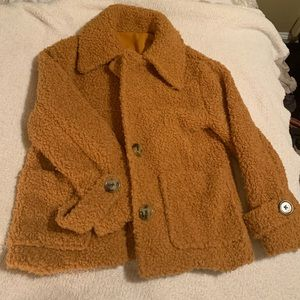 Free People So Soft Cozy Pea Coat